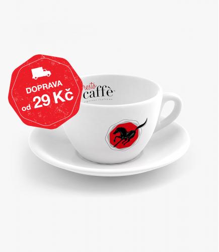Šálek s podšálkem na cappuccino Presto Caffé