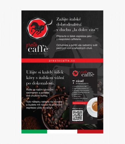 Presto Caffé - návod na přípravu kávy