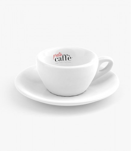 šálek s podšálkem na ristretto Presto Caffé